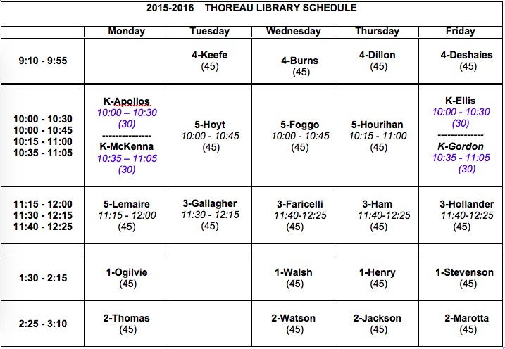 ClassSchedule